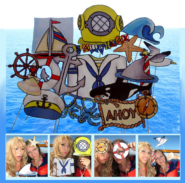 nautical photo booth props - perfect for sailing away or for a maritime sea party - Bon Voyage.... $14.99, via Etsy.