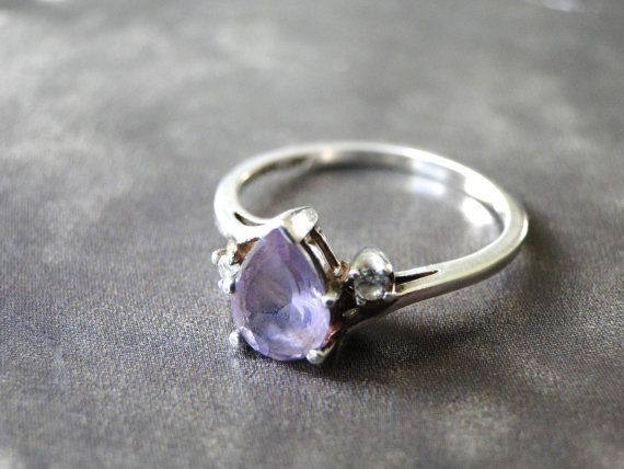 Vintage Amethyst Ring, Sterling Silver, Lavender Amethyst Ring, Gift for Her, Accessories, Jewelry, Gift Box