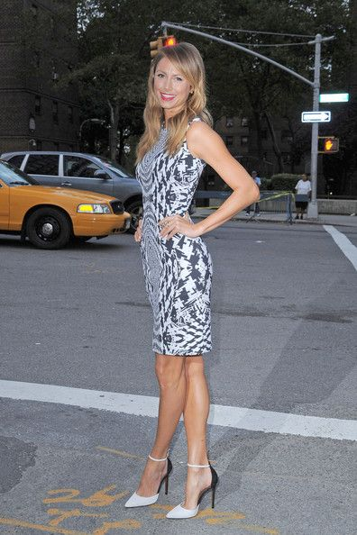 Stacy keibler, Black white dresses and White dress on ...