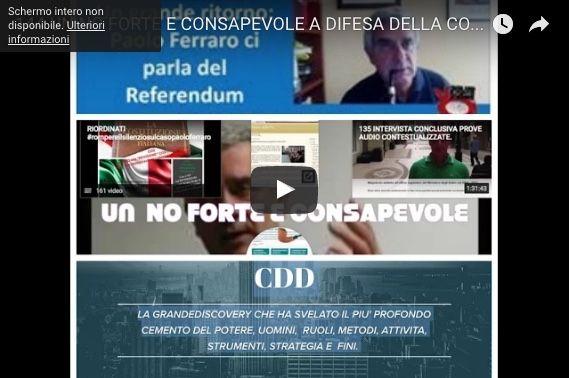 UN NO FORTE E CONSAPEVOLE A DIFESA DELLA COSTITUZIONE PLURALISTA PER  RICOSTRUIRE DAL GIORNO DOPO DEMOCRAZIA E LEGALITA