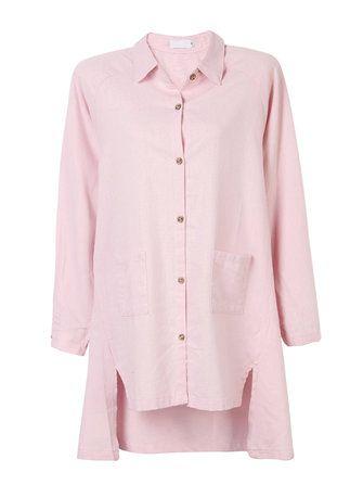 Only US$29.89 , shop Women Vintage Long Sleeve Loose Pocket Irregular Hem Shirt Dress at Banggood.com. Buy fashion Vintage Dresses online.