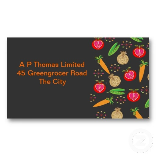 Fresh Fruit and Vegetables Retro Design Business Card Templates.  A retro style pattern of fresh fruit and vegetables a great business card for fruit and veg. suppliers or retailer or maybe a catering business. Whatever your business your bound to be remembered with these stylish calling cards.