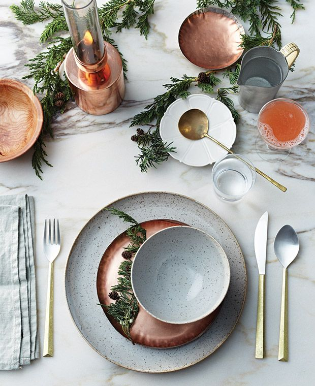 Best Holiday Homes: Gorgeous Table Setting Inspiration  Get pretty, seasonal ideas for choosing chargers, cutlery, textiles and accents — no matter what your home's style.
