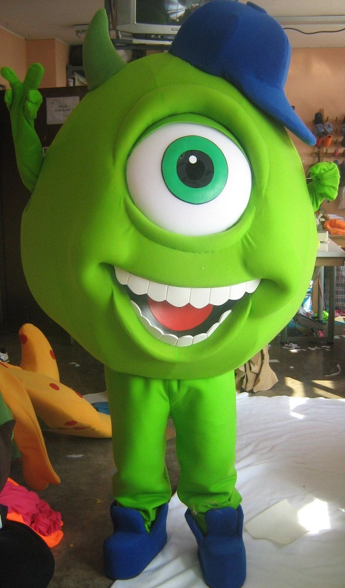 Monsters inc Mike Mascot Costume Adult Character Costume