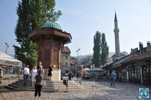 Sarajevo, the capital of Bosnia and Herzegovina is a city with Islamic influences, but beautiful and rich in architectural buildings and surrounded by the Dinaric Alps