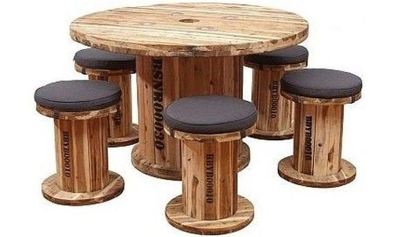 exciting cable spool kitchen table | 101 best Tables images on Pinterest | Scaffold tube ...