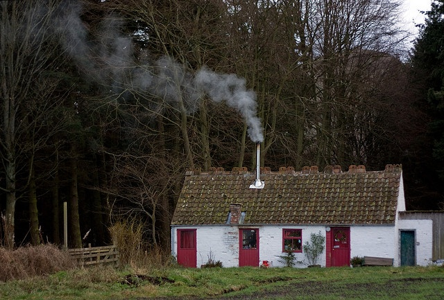"""Falkland, Scotland - 'Lang may yer lum reek' by Buspass, via Flickr - Scots for """"Long may your chimney smoke."""" An old New Year greeting meaning """"Have a prosperous New Year."""""""