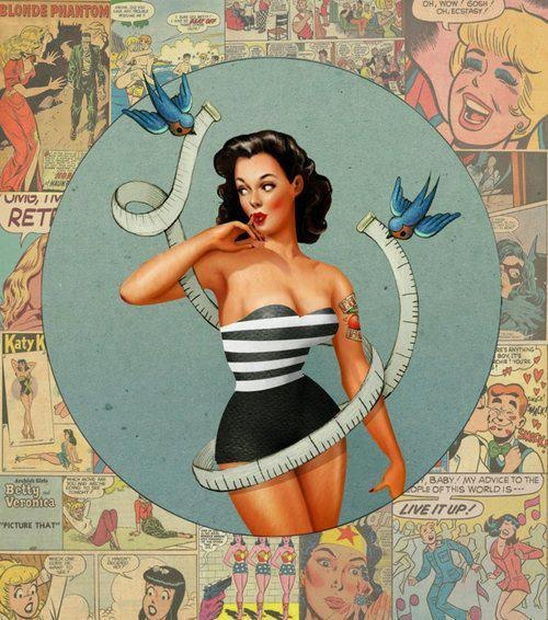 Pin up ~(Looks Like Katy Perry) I don't know if this Vintage or a New Retro - (?) Anyone (?)
