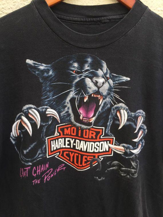 Vintage 1992 Harley Davidson Motorcycles Can't by HappyPigVintage