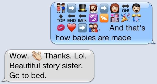 Beautiful story, sister. #funny #emoji #iphone | Funny ...