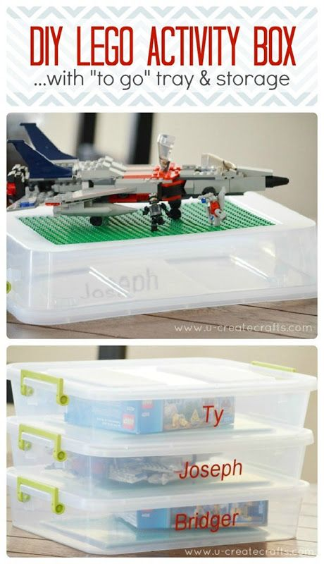 Protect those precious creations with this DIY Lego Activity Box with Storage via U Create Crafts