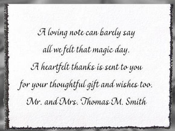 wedding thank you card wording - Google Search