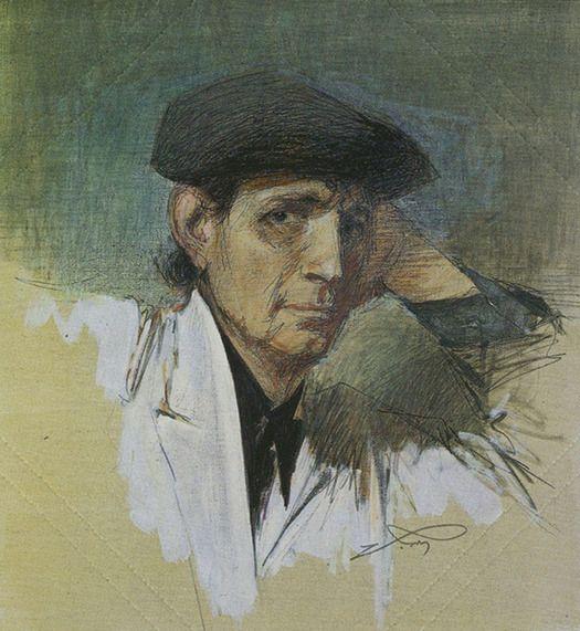 Αλέκος Κοντόπουλος (1904-1975), «Αυτοπροσωπογραφία», λάδι σε μουσαμά, 80x70 εκ., συλλογή του καλλιτέχνη.