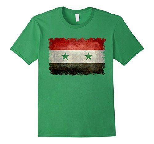 Men's Vintage Syrian Flag T-Shirt 3XL Grass LoneStarDesigns #syrian #syria #flag #syrianflag #syriaflag