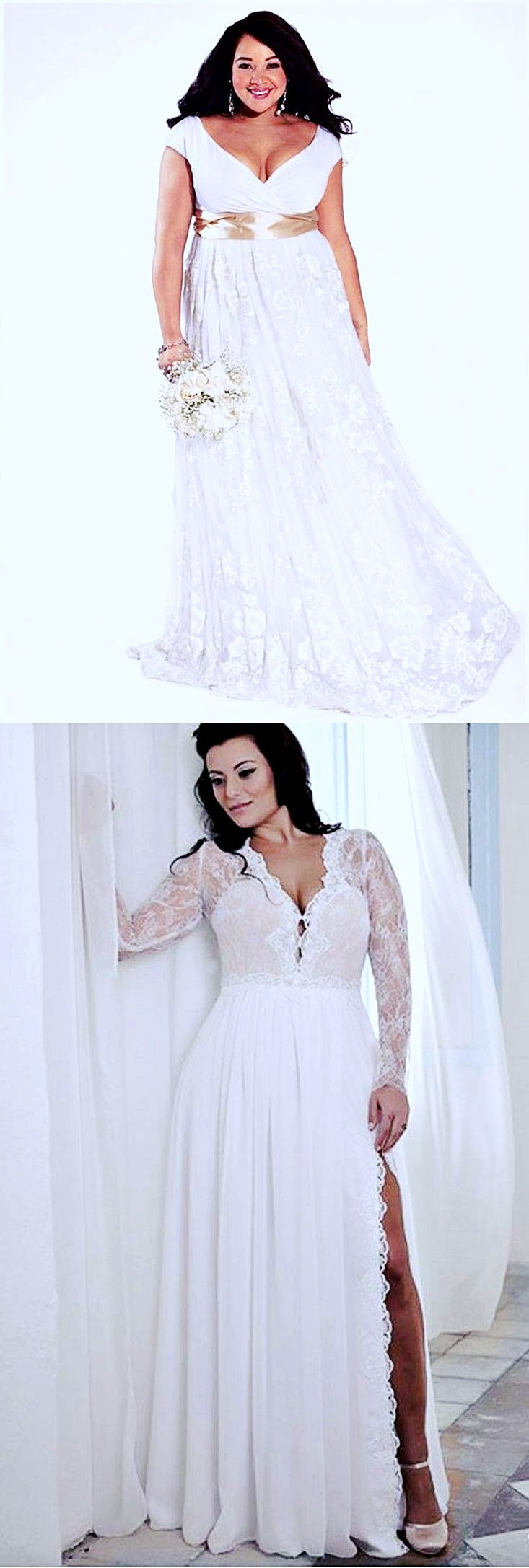 Discover More About Plus Size Wedding Gowns With Color Wedding Dresses Plus Size Wedding Dresses [ 2174 x 733 Pixel ]
