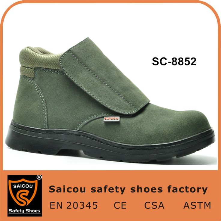 no lace working shoes and electric welders safety shoes and safety work boots SC-8852