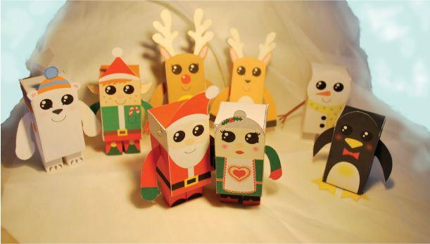 On continue avec notre sélection de papertoys pour Noël. Aujourd'hui, ce n'est pas 1… mais 8 jouets en papier que nous vous proposons ! Typiquement de saison, ces personnages ont été créés en 2009 par l'anglaise Samantha Eynon. Dans cette…