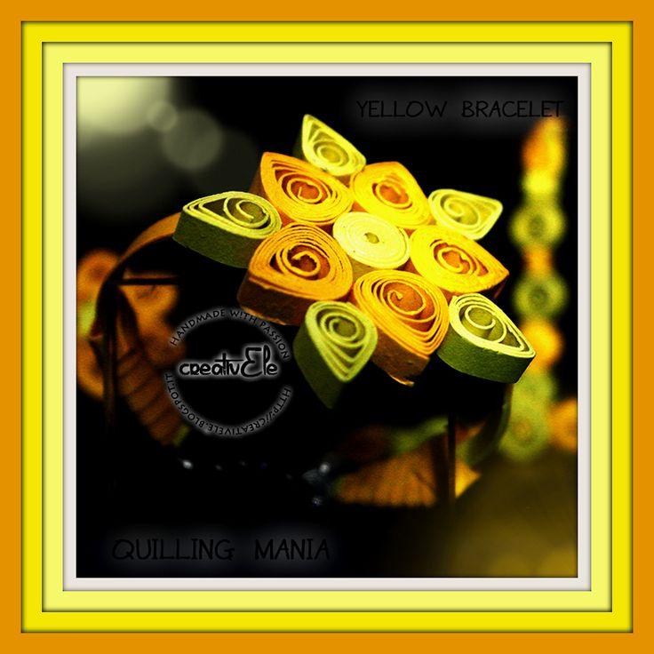 creativEle: QUILLING MANIA: Yellow bracelet, ring & earrings f...