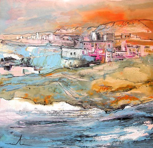 Spanish Coast Town. Artist:Miki De Goodaboom