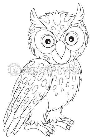 Coruja-pequena — Ilustração de Stock #39191769