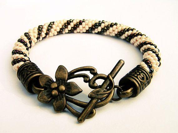 bead crochetbeadwork gift tiny beads shiny by SHINEmagicJewellery
