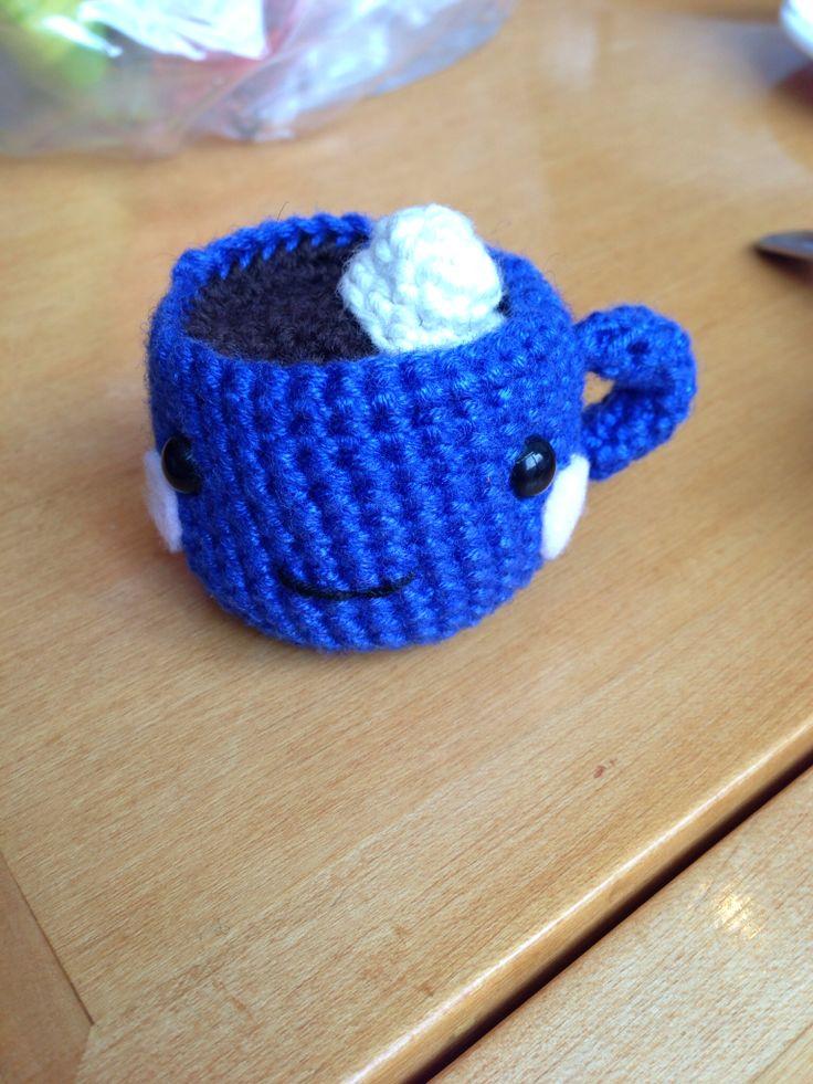 Crochet hot chocolate cup