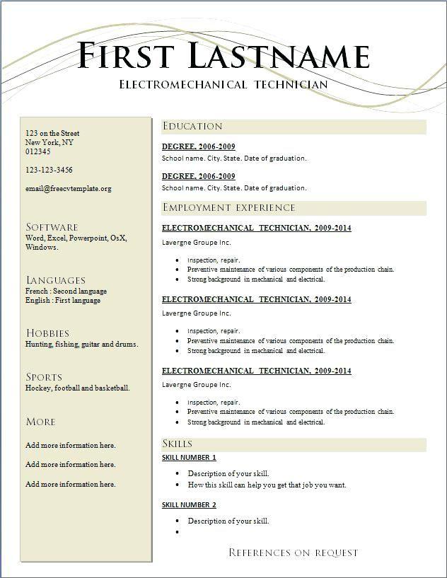 Free Example Of Resume Free Resume Templates Word With Photo Free Example Of Resume R Free Resume Builder Free Printable Resume Downloadable Resume Template