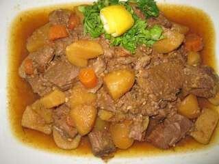 Portuguese cuisine: Ensopado de Borrego (Lamb stew)