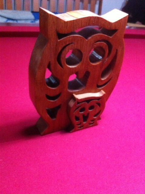Owl with baby owl insert of same pattern. Scroll Saw using ...