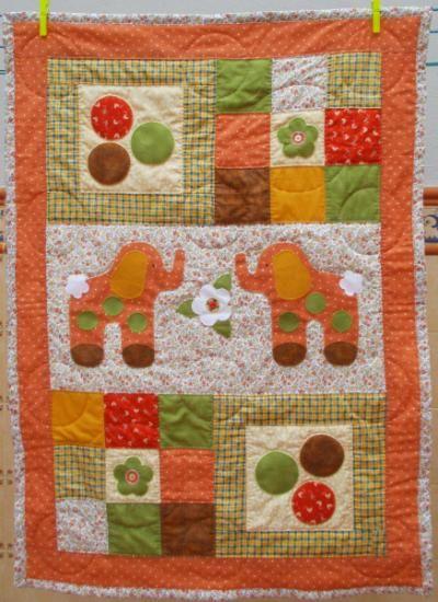 colcha para cuna de patchwork  telas y guata de algodon patchwork