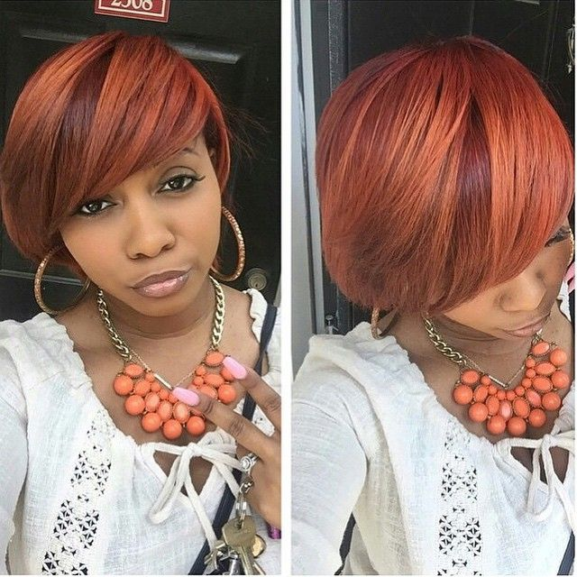 STYLIST FEATURE| Love this #customcolor #bobcut✂️ done by #AtlantaStylist @Kolorking on @prettyrosejay❤️ Snatched #VoiceOfHair