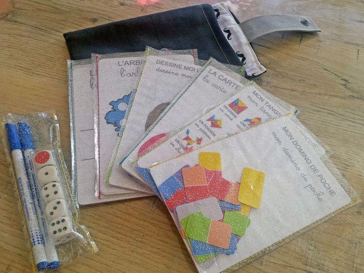 Trucs de Maëliane, le blog.: Inspiration américaine : Le busy bag ou les jeux de poche! ( 12 free printable inside)