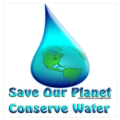 water conservation stickers for kids | Water Conservation Poster