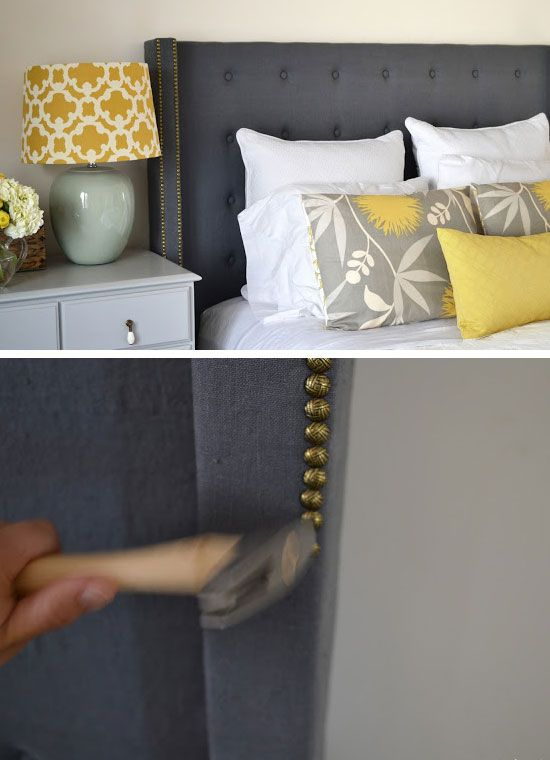 DIY Headboard | 22 Small Bedroom Decorating Ideas on a Budget | Easy DIY Bedroom Decor Ideas | Click for Tutorials
