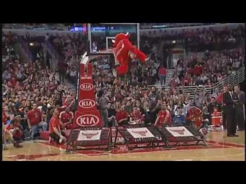 Benny the Bull  Benny the Bull is the mascot of the Chicago Bulls, a role he has filled since 1969. In this video we can find the best of 2013/14 season. In my opinion, he is the best NBA mascot out there. Apart from cheering he makes all kind of acrobatics. Better watch it if you have 5 minutes.  http://TheDailyLaugh.net The Digital Newspaper for all your laughing need
