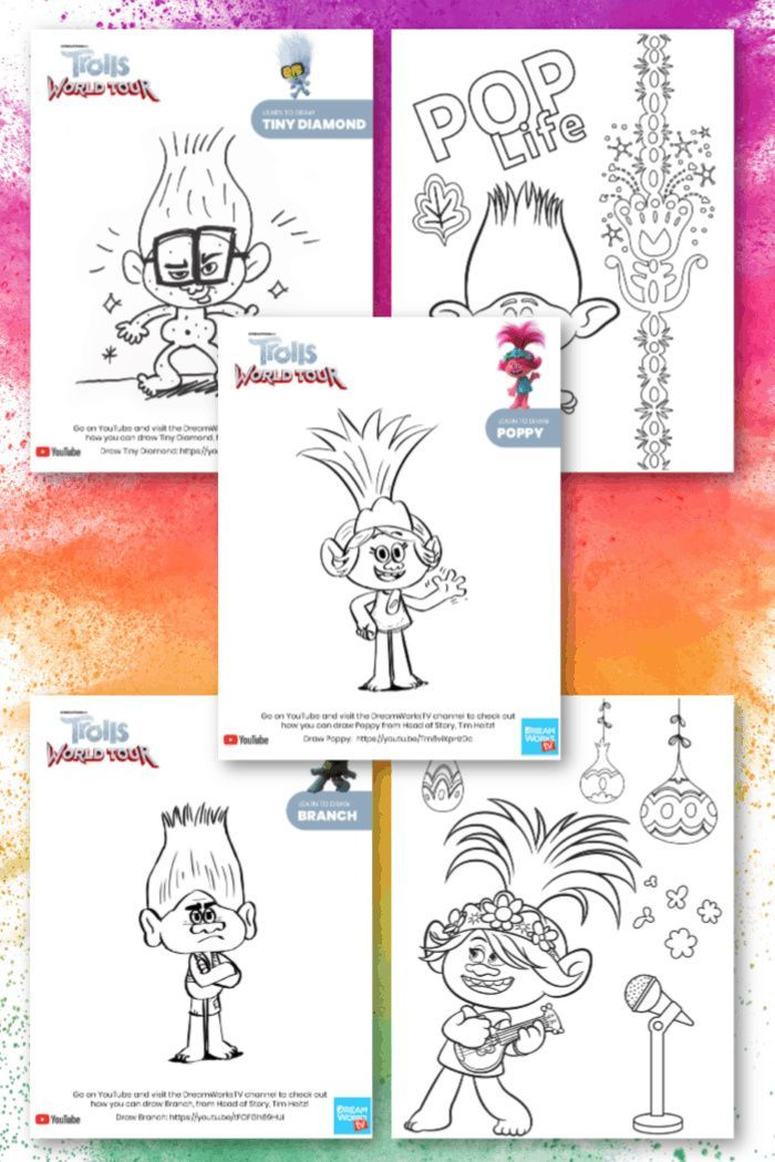 Trolls Coloring Pages In 2020 Coloring Pages Printable Coloring Pages Disney Coloring Pages
