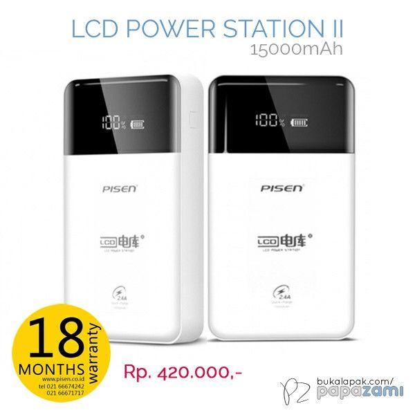 Pisen LCD Power Station II - 1500mAh, powerbank keren dengan tampilan layar LCD yang memikat. Cuma IDR 420. Garansi 18 bulan.  Online shopping: www.bukalapak.com/papazami  Fast Order: HP/WA/TG: 0815-1100-6400 BBM: 5E2E9F7F LINE ID: papazami  #pisen #pisenindonesia #pisenmart #pisenstore #pisenshop #pisenonline #powerbank #papazami #tokopapazami #onlineshop