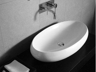 Ovales Aufsatzwaschbecken TAO   Waschbecken aus Keramik - Hidra Ceramica