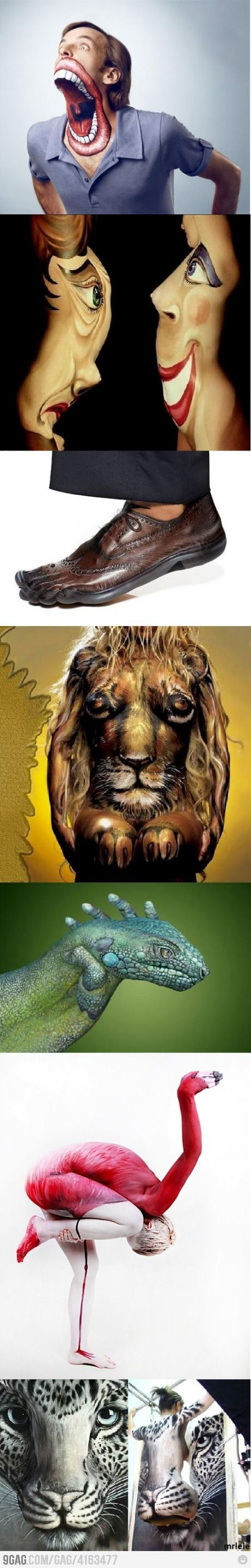 Awesome body painting illusions