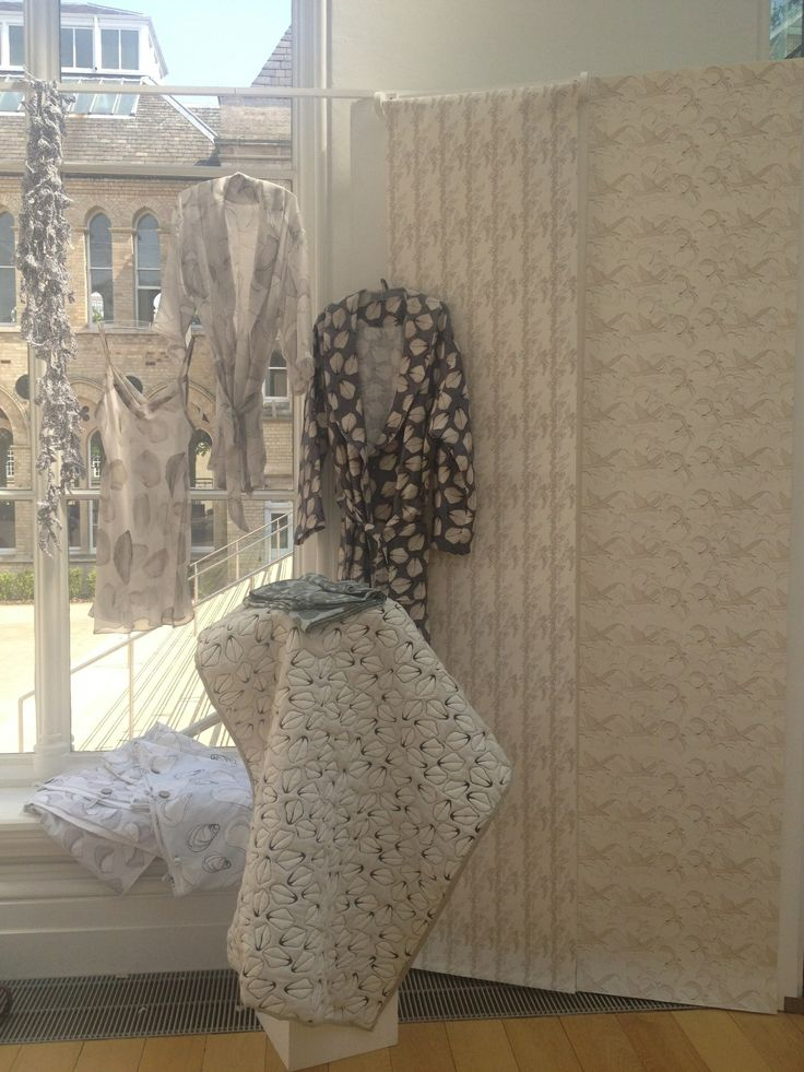 A collection of some of my pieces in exhibition. Wallpaper, bedding and nightwear