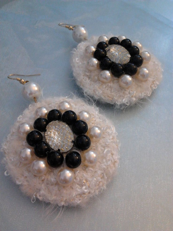 Orecchini etnici/ earrings Etnyc/ orecchini cerchio con perle e onice/ circle…