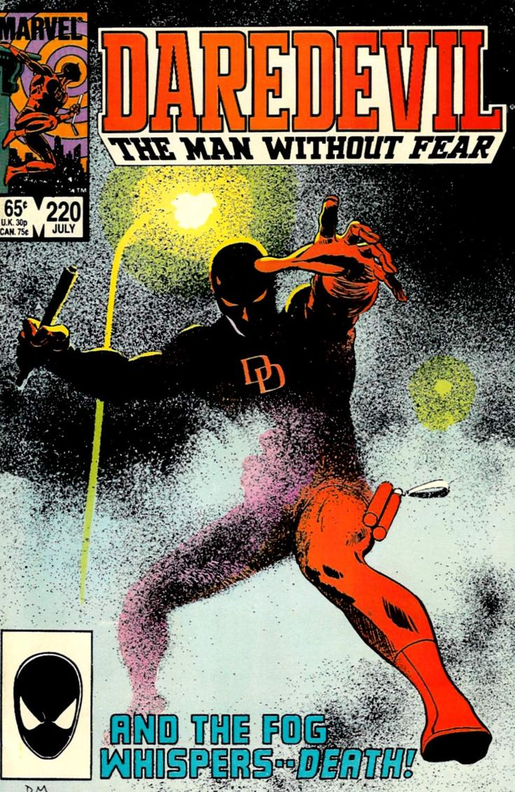 Comic Book Covers-Daredevil #220, July 1985, cover by David Mazzucchelli