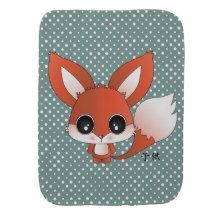 Eiichi the fox burp cloths
