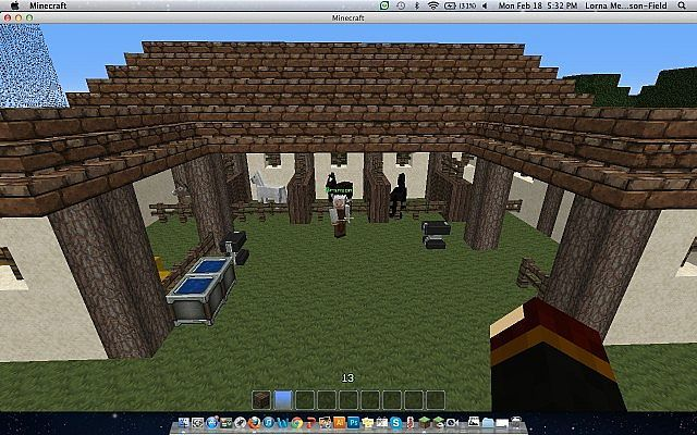 Medieval Horse Stable Minecraft Project So want to build this in survival got loads of horses