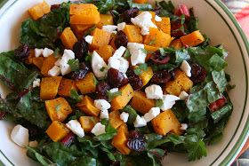 Will Work For Eskimo Kisses: Autumn Swiss Chard Salad with Roasted Butternut Squash