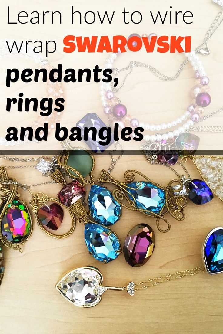 Learn how to create Swarovski wire jewelry