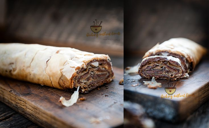 chocolate and peanut butter baklava - an amazing and easy dessert - Cooking Without Limits