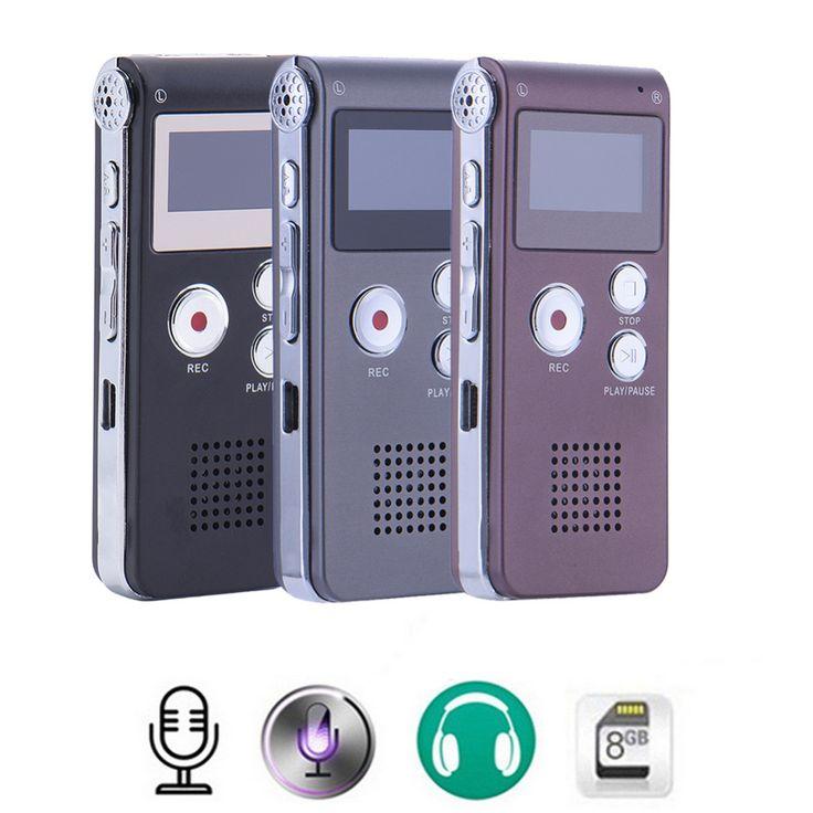 Nueva Recargable 8 GB de <font><b>Audio</b></font> Digital Sound Grabadora de Voz Del Dictáfono Reproductor de MP3 De Alta Calidad Mini Digital USB Pluma de Grabación de Voz