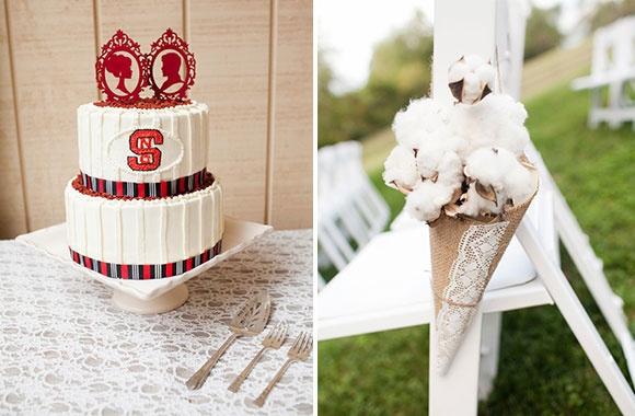 Красивая американская свадьба в малиновых тонах