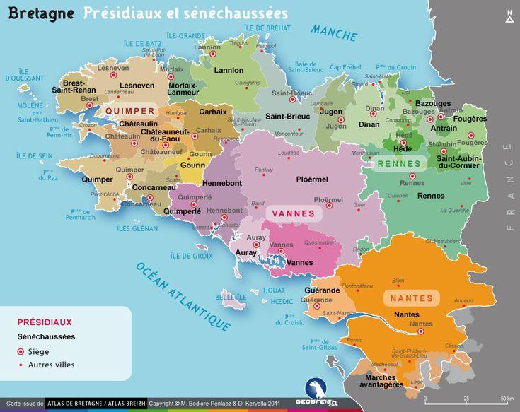 Carte des présidiaux bretons - Bretagne